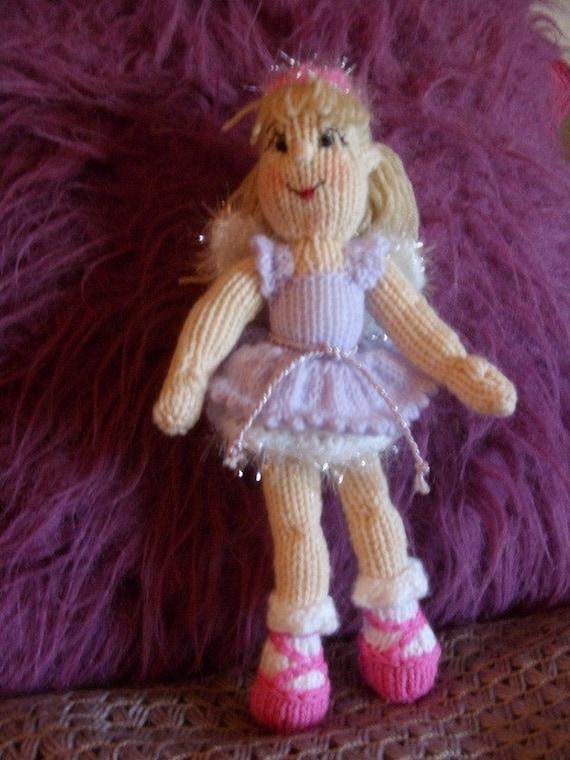 Items similar to christmas fairy doll knitting pattern pdf ...