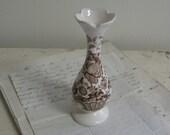 Charlotte Brown Ironstone Bud Vase Royal Crownford