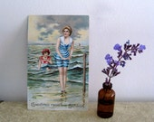 Greetings from the Seaside Vintage Postcard