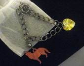 Twilight Saga Eclipse Inpired Bella's Graduation Gift Bracelet Paduak Wolf