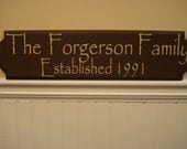 Custom Family Personalized Wood Sign Plaque Wall Hanging Great for Weddings House Warming Gifts
