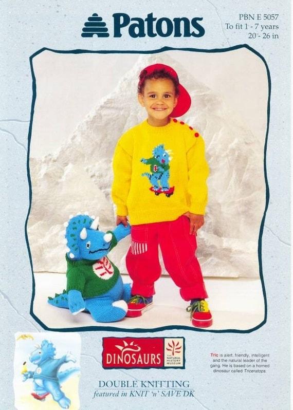 Patons Knitting Patterns Toys : PATONS TOY KNITTING PATTERN DK DINOSAUR by ...