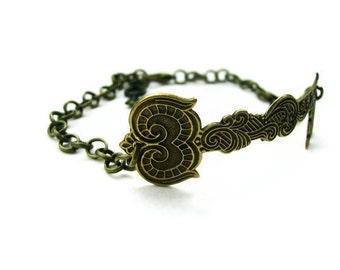 Skeleton Key Bracelet Medieval Gothic Ornate - KEY To The CASTLE - Antique Brass - Limited Edition - Last One