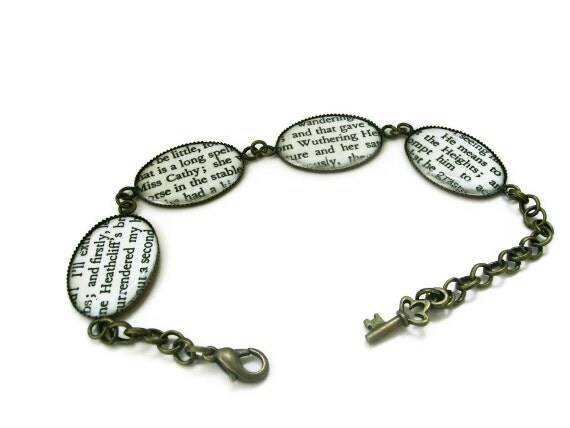 Wuthering Heights Emily Bronte Bracelet - WUTHERING HEIGHTS - Limited Edition - antique bronze - last one Literary Book Gift Etsy uk