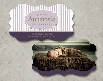 LUXE Business Card Template for Millers Lab- Sweet Anastasia Collection