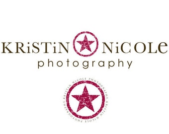 Premade Star Logo and  Watermark With Extra Accent Element- Photography Logo
