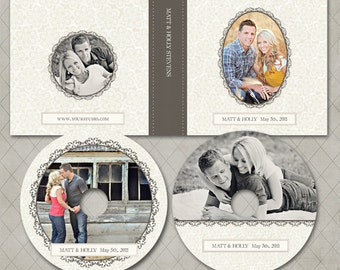 CD Case and DVD Labels Templates for WHCC and Millers Lab- Holly Collection