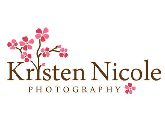 Premade Cherry Blossom Logo and Watermark
