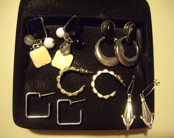 Lot of silver post earrings