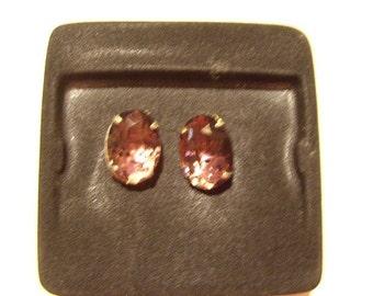 Large jewel clip earrings