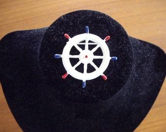 Vintage ship wheel pin