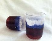 tea light holders  red white blue patriotic