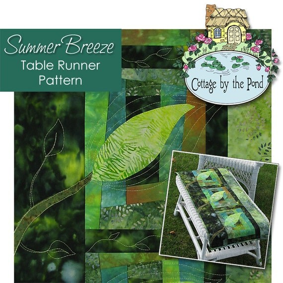 Table Runner or Wallhanging Quilting Pattern - Summer Breeze