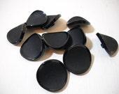 Large Black Concave Buttons 10 Great Curve Appeal