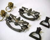 Metal Drawer Pulls and Knobs 3 Set Salvaged for Repair or Projects