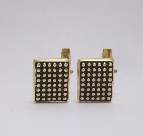 Off the Grid Gold tone square cuff links