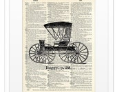 Buggy - Vintage DICTIONARY Art Print - 8x10