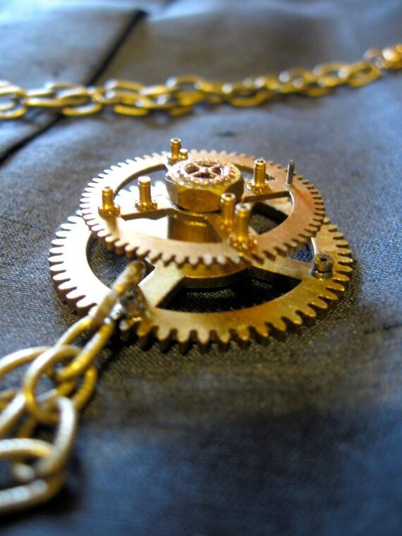 Reserved - Steampunk Necklace - Eden Gallery