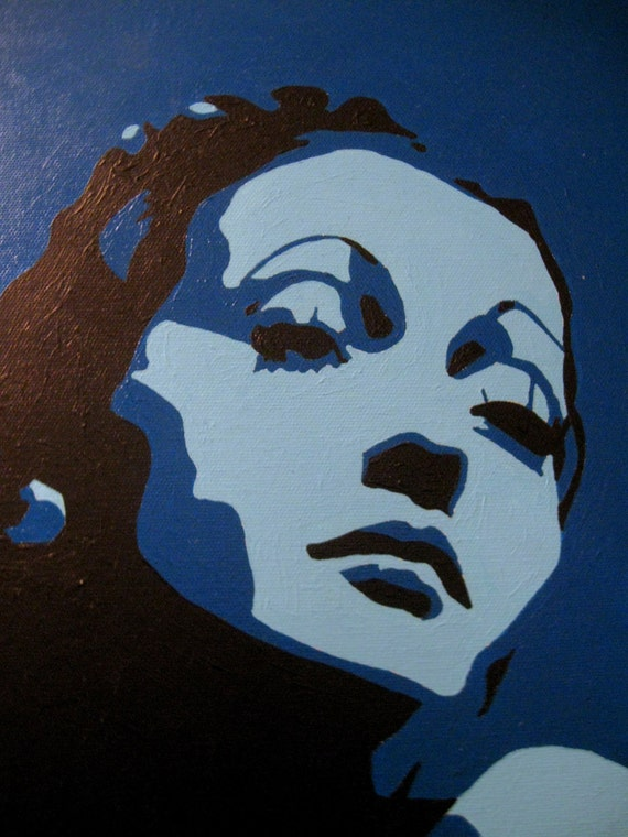 Dorothy Lamour Pop Art Portrait in Blue - Eden Gallery