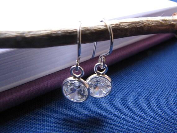 Sterling Silver Cubic Zirconia Earrings Drops