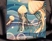 Tiny Cerulean Jellyfish painting