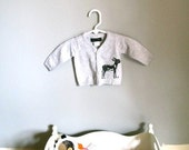Buy 2 get 1 FREE - Free Shipping - Ready to ship -Light Grey Donkey Infant Cotton Sweater Size 0 to 3 Months