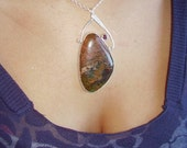 Jasper in Sterling with Garnet