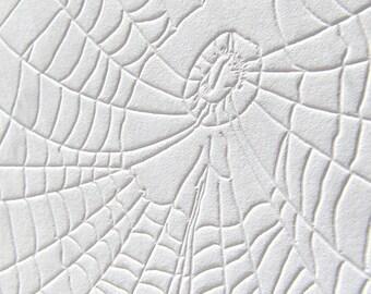 Letterpress Note Card - Spiderweb