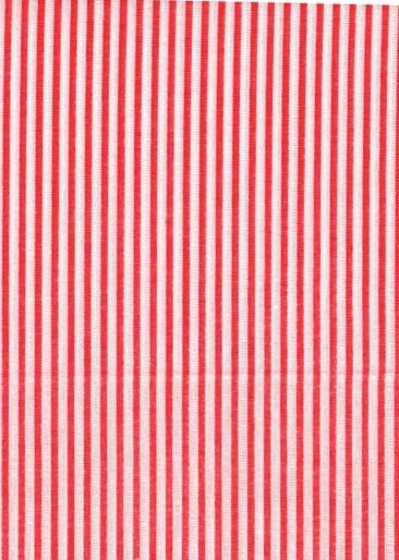 Reserved For Jobetts Pinstripe Red And White Cotton Fabric