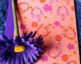 Felittle Lilly Girls Notebook and Flower Pen