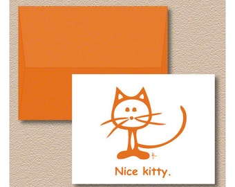Nice Kitty Note Cards
