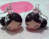 Japanese Kokeshi Doll Earrings