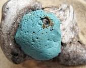 HISTORY Genuine  Rare Drilled Leland Blue Slag Glass Pendant