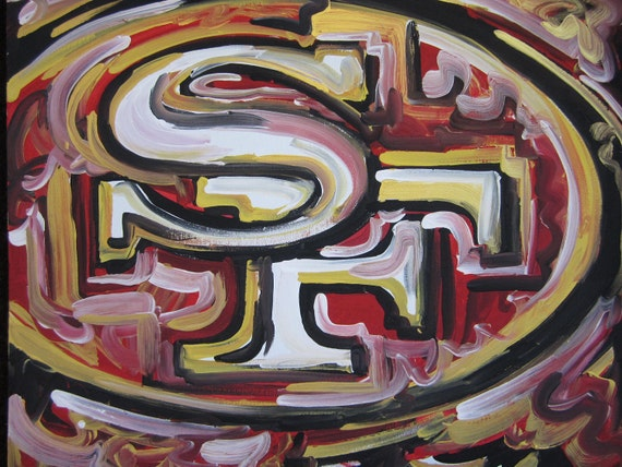 San Francisco 49ers Painting by Justin Patten Sports Art Football