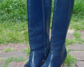 RESERVED // Blue Tall Boots Ladies