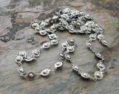RESERVED for Jules: Antique Silver Chain for Jewelry Making and Beading, Ball and Cog Design (C006)