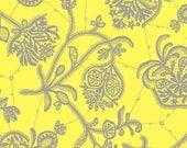 Amy Butler Lark Collection Fabric Yardage - Souvenir - Lemon Yellow  - 1 Yard