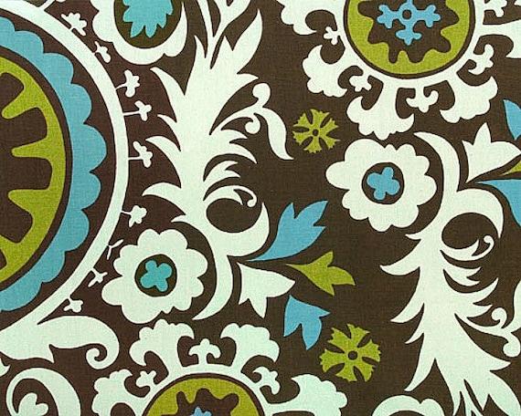 Home Dec Fabric Yardage - Suzani Print - Chocolate Brown  by Premier Prints 1 Yard