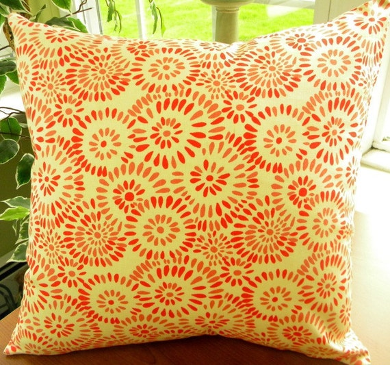 Throw Pillow Cover Fabric : Decorative Throw Pillow Cover 18 square Fabric