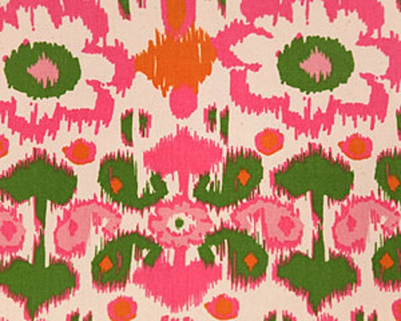 Home Dec Fabric Yardage Rio Ikat Floral By Premier Prints