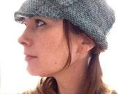 Lightweight light blue tweed newsboy cap