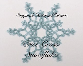 Criss-Cross Snowflake TATTING PATTERN