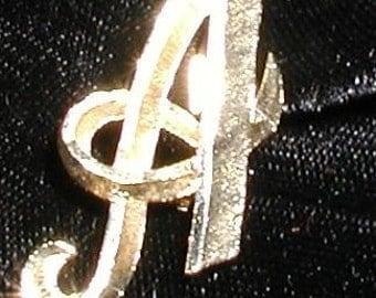Vintage Mamselle monogram A pin