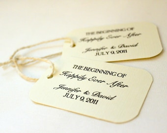 24 Wedding Favor Gift Tags - Happily Ever After