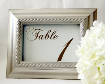 15 - Wedding Reception Table Number Cards - Elegant; Table Tents Place Setting wedding signs wedding decor Table Names Special Events love