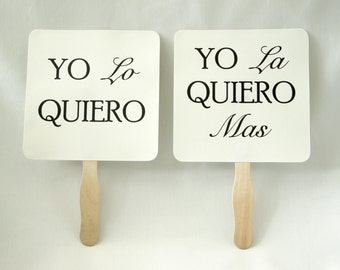 Set of Double Sided Save the Date Engagement Picture Signs in Spanish- Custom Spanish Engagement Photo Props Photo Booth Props Bridal Shower