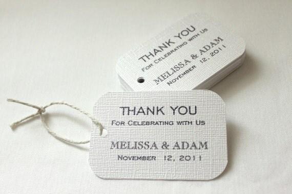 130 Wedding Favor Gift Tags - Modern Design