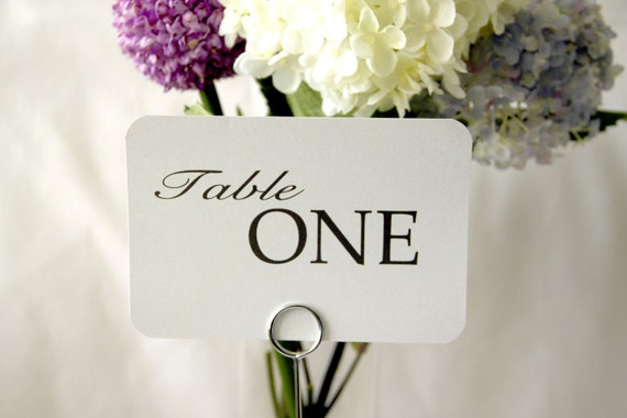 15 - Wedding Reception Table Number Cards - Pure; Table Tent Place Setting wedding signs wedding decor Table Names Special Events love 4x6