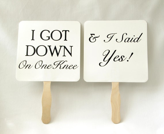 Set of Save the Date Engagement Picture Signs