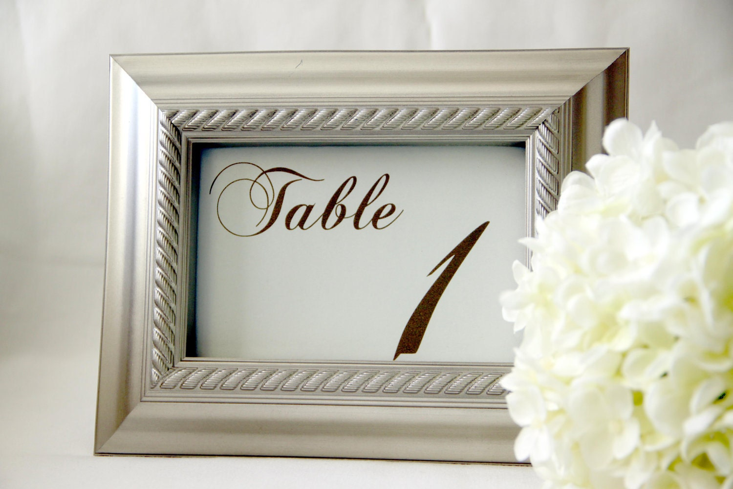 10 Wedding Reception Table Number Cards Elegant By ViennaIsLove